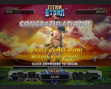 Titan Storm Free Spins