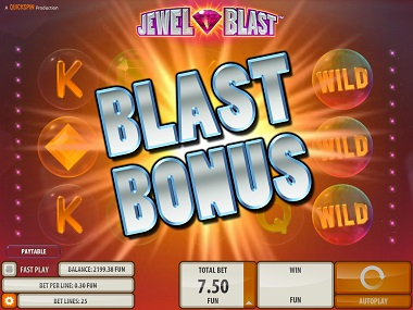 Blast Bonus Jewel Slot