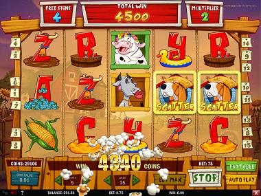 Crazy Cows Slot Screenshot