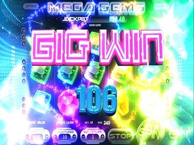 Mega Gems Slot Big Win