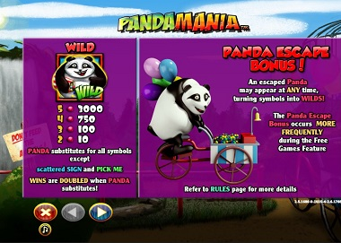 Pandamania Escape Bonus