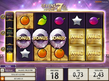 Sevens High Slot Bonus