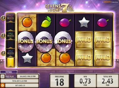 Sevens High Slot Bonus