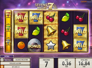 Sevens High Slot Screenshot