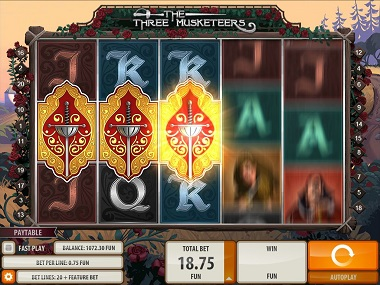 Three Musketeers Slot Scatters