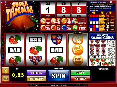 Super Tricolor Slot Game