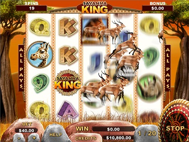 Savanna King Free Spins