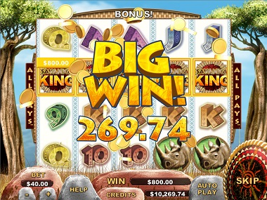 Savanna King Slot Big Win