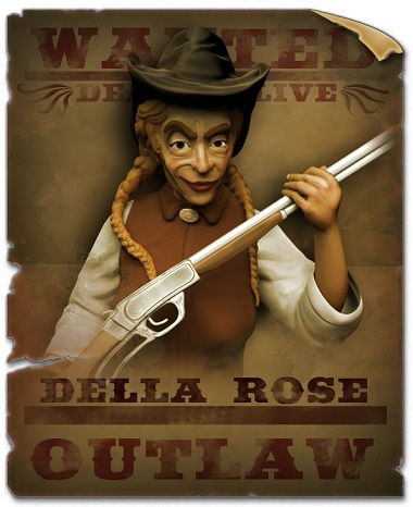 Della Rose Wanted Poster