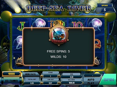 Deep-Sea Diver Free Spins