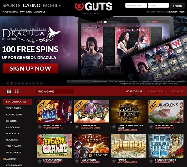 Get Up To 100 Dracula Free Spins At Guts Casino Netent Stalker