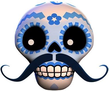Esqueleto Explosivo Blue Skull