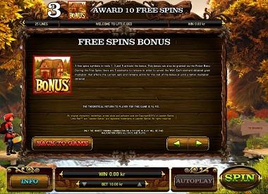 Little Red Free Spins Bonus
