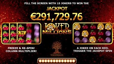 Joker Millions Slot Jackpot