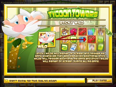 Tycoon Towers Slot Splash Screen