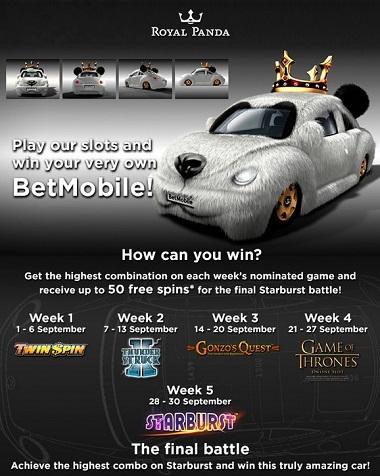 BetMobile Royal Panda Casino