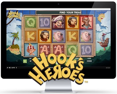 Play Hook's Heroes Slots at Casino.com New Zealand