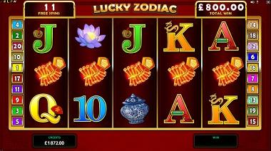 Lucky Zodiac Slot Free Spins