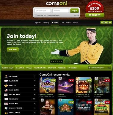 comeon casino 5 free