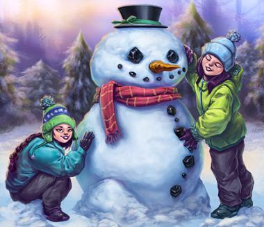 Happy Holidays Slot Snowman