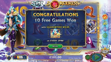 Spin Sorceress Slot Free Spins