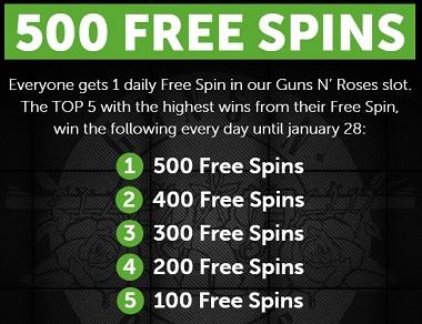 24hBet Guns N Roses Free Spins