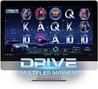 Drive: Multiplier Mayhem Slot - NetEnt - Rizk Online Casino Sverige