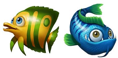 Golden Fish Tank Yggdrasil Symbols