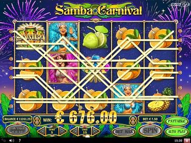 Samba Carnival Slot Big Win