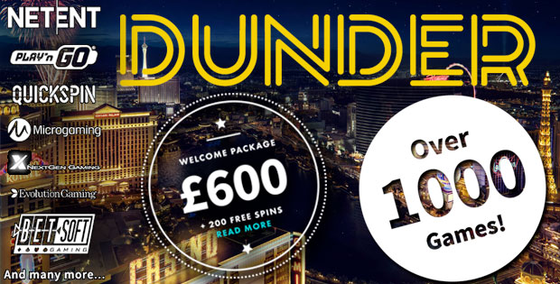 Dunder Casino Welcom Package