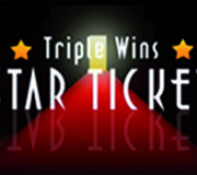 Triple Wins Star Ticket Scratch Card