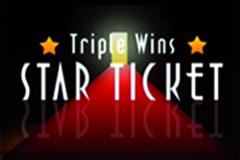 Triple Wins Star Ticket Scratch Card