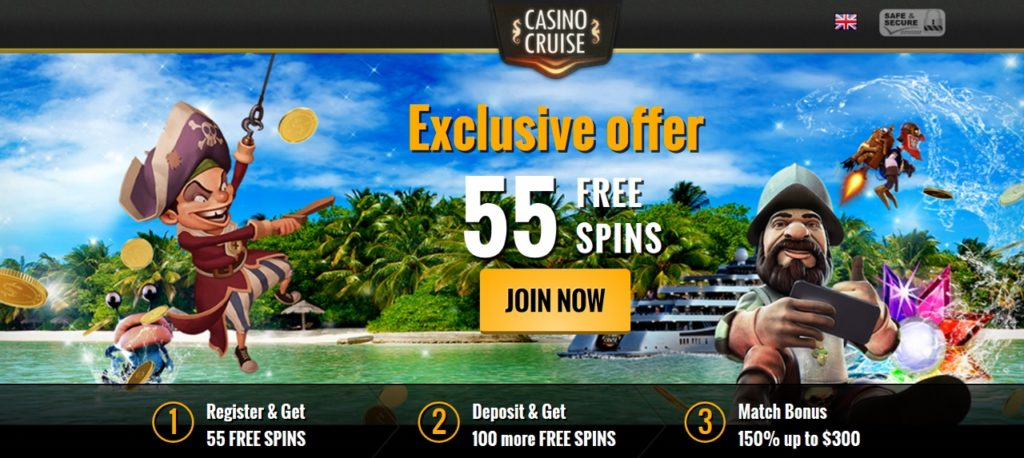 Casino Cruise 55 Free Spins On Registration Expired