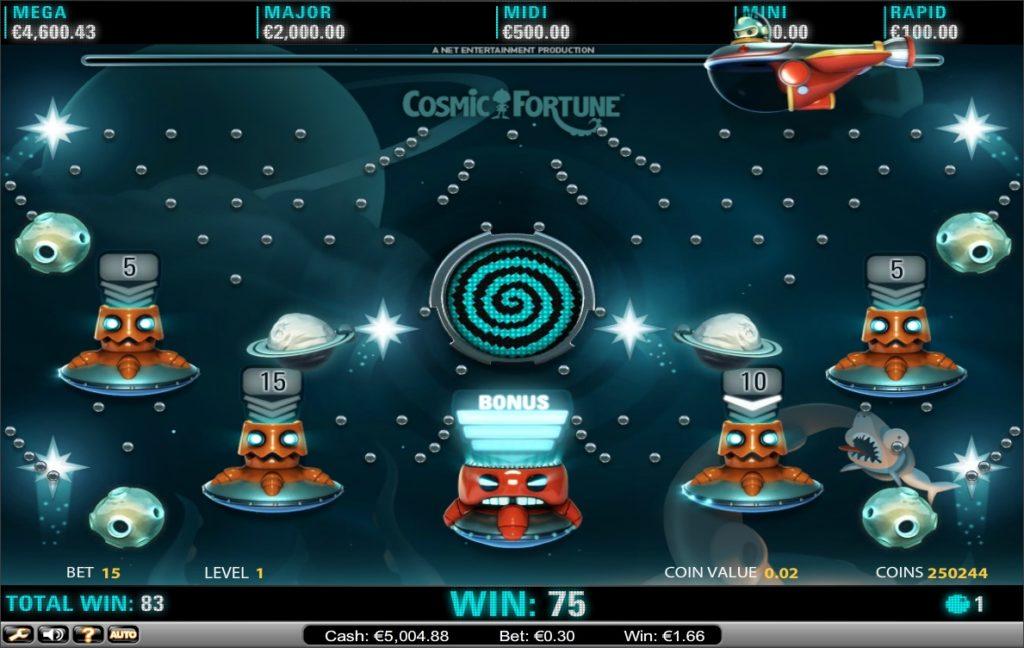 Cosmic Fortune Progressive Jackpot - Netent - for Real Money