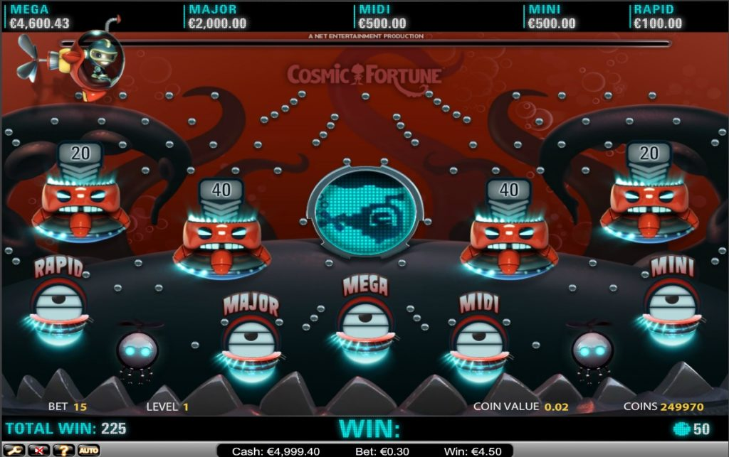 Cosmic Fortune Progressive Jackpot - Netent - for Real Money