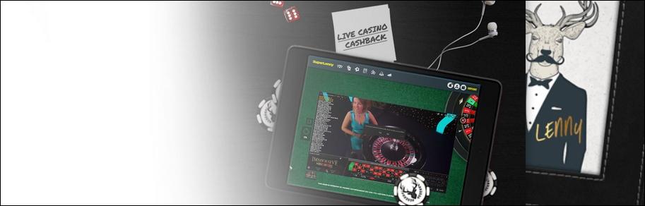 SuperLenny Live Casino Cashback